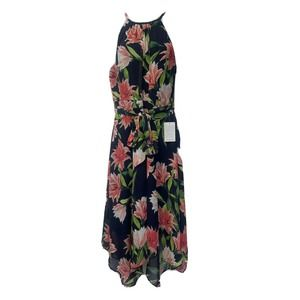 ELIZA J Floral Print High Low Maxi Dress Size 12
